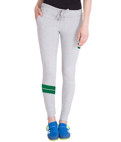 Light Grey,Green Printed Trackpant for Women