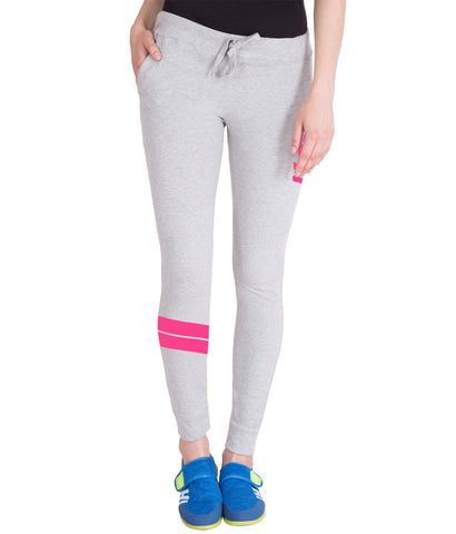 Light Grey and Pink Stylish Trackpant for Women