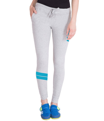 Light Grey,Sky Blue Printed Trackpant for Women