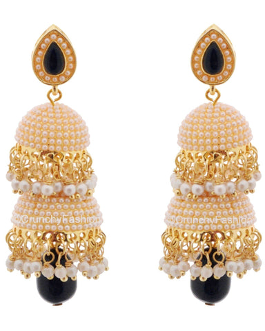 Royal Bling Golden Drop Earrings for Women & Girls