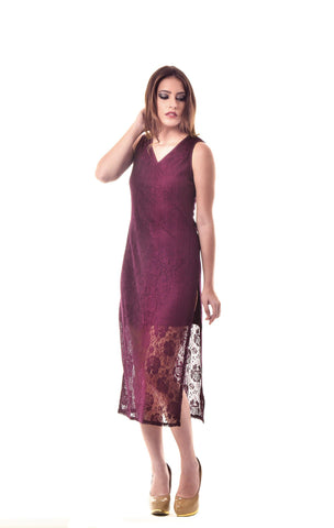 Wine Cocktail Maxi Dress
