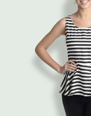 Round Neck Monochrome Sleeveless Top