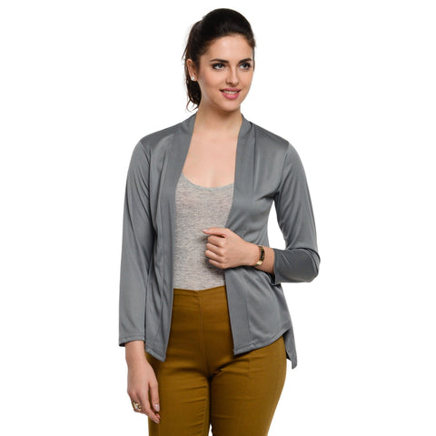 Waist length Grey Shrug