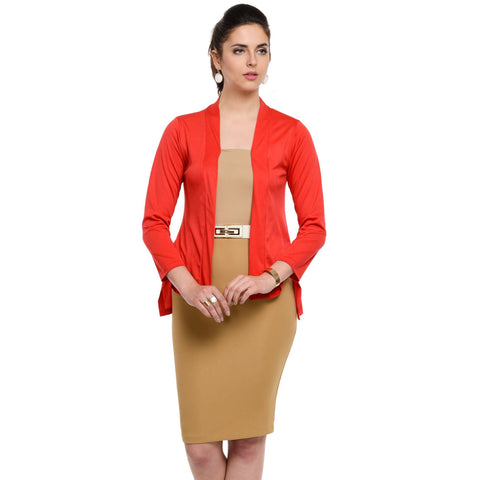 Waist length Red Shrug