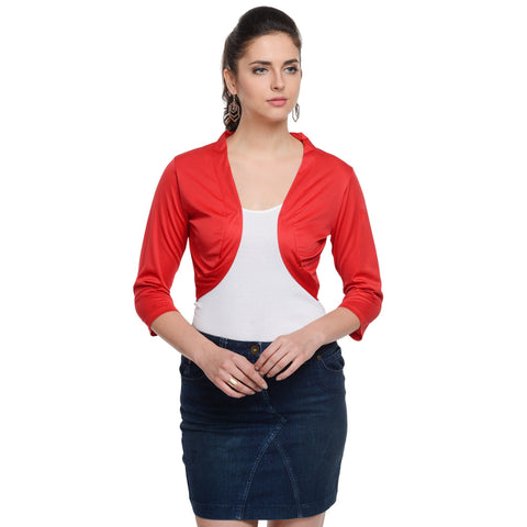 Bust length Red Shrug
