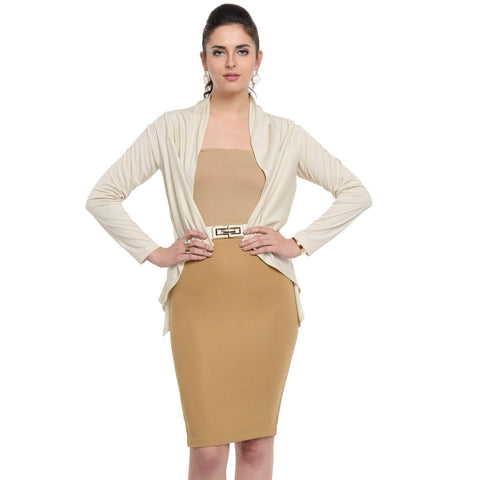 Waist length Simply Beige Shrug