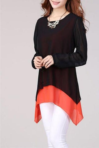 Orange Border Elegant Tunic