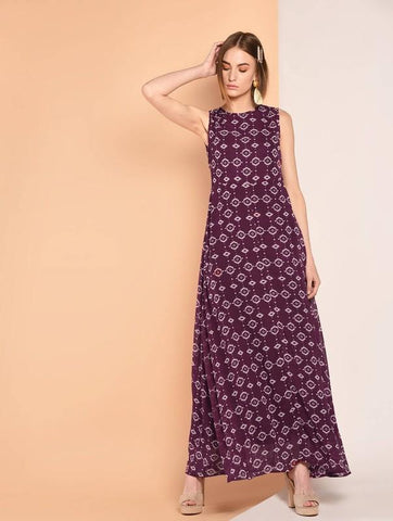 Tie Back Sleeveless Maxi Dress