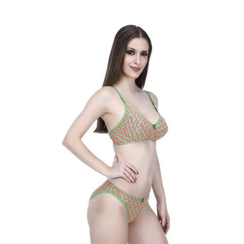 Viral Girl Women's Green Colour Cotton Hosiery Bra(Set Of 1)