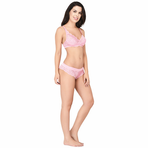 Viral Girl Women's Babypink Cotton Hosiery Bra(Set Of 1)