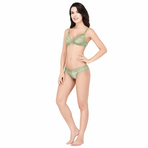 Viral Girl Women's Green Cotton Hosiery Bra(Set Of 1)