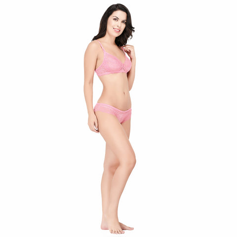 Viral Girl Women's Pink Cotton Hosiery Bra(Set Of 1)