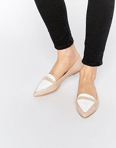New Days Classy Beige Ballerina Shoes