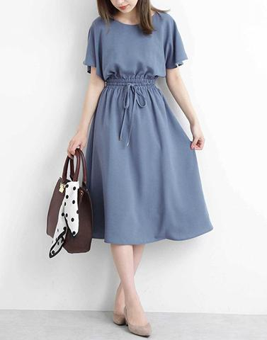 Blue Halo Crepe Dress
