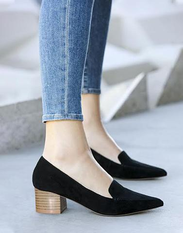 Blackout Block Heels
