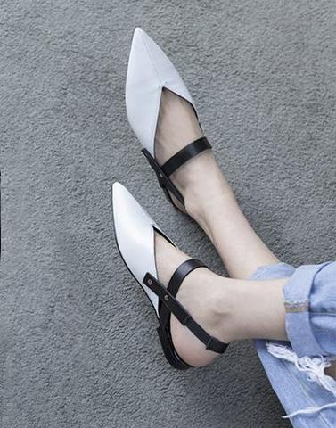 Versatile In White Workwear Flats