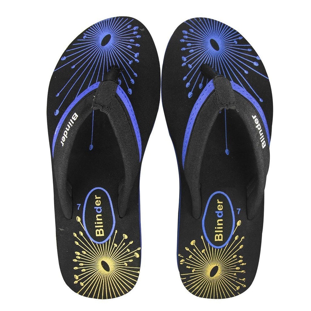 Blinder Women's Blue Fabrication Comfortable Slippers