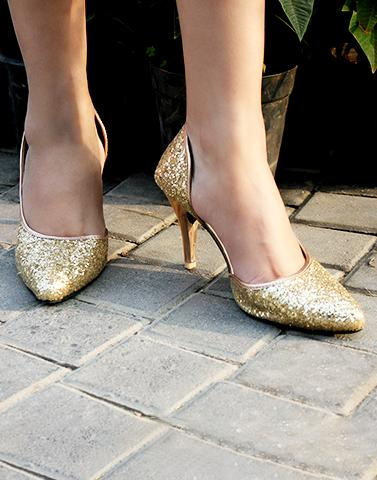Shine Oyster Heels