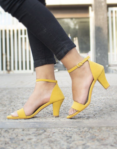 Sunshine Yellow Chic Heels
