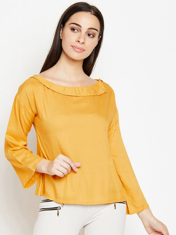 Solid Mustard Regular Top