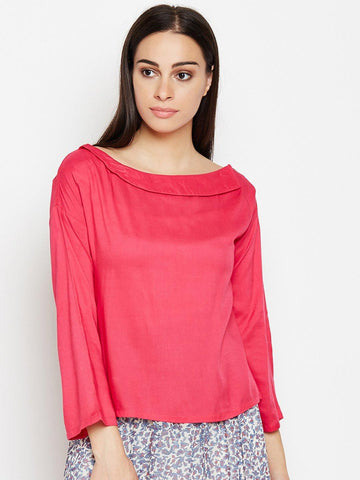 Solid Magenta Regular Top