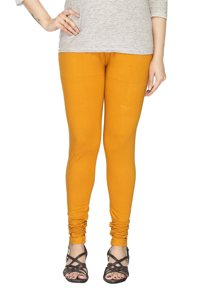 Deep Yellow Churidar leggings