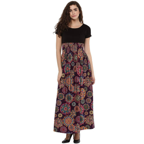 Maxi Slim Fit Printed Dress