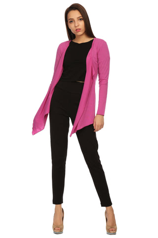 Full Sleeve Asymmetric Solid Shrug