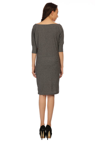 Grey Shift Plain Dress