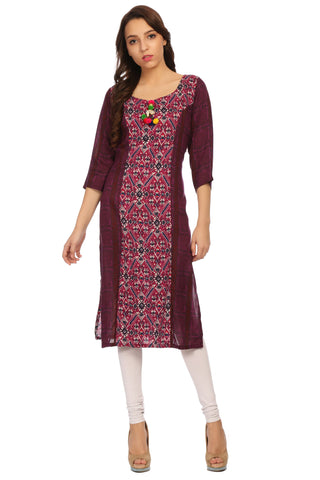 Multi color Designer Printed Kurta