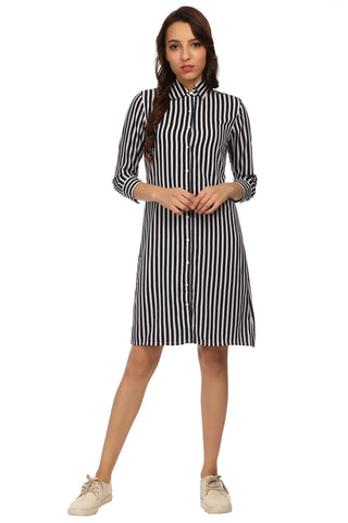 Regular Collar  Shirt Dress