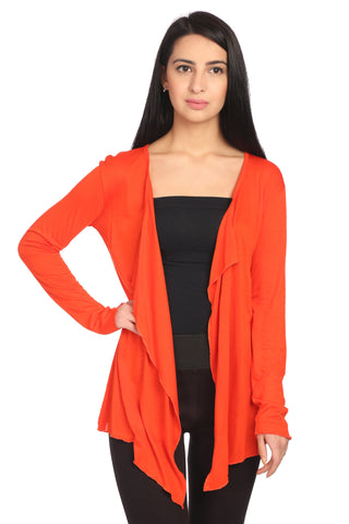 Red Viscose Solid Shrug