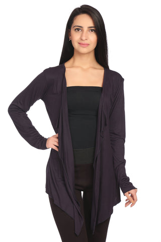 Dark Purple Solid Shrug