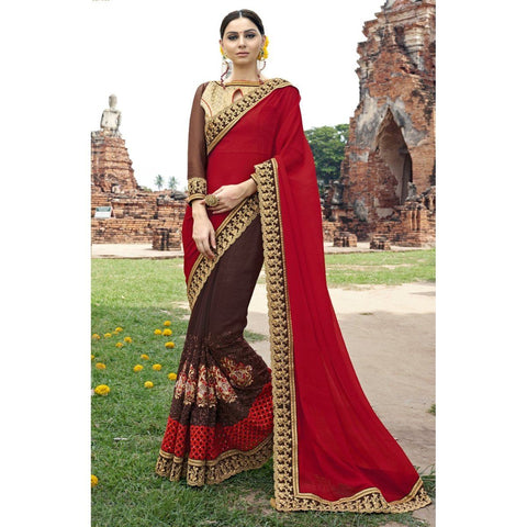 Festival Wear Georgette Embroidered Sarees