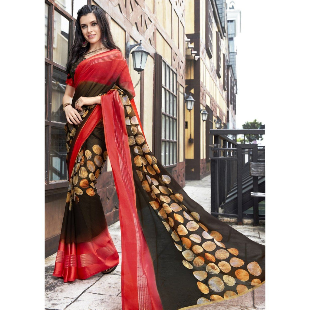 Casual wear Printed Georgette Sarees