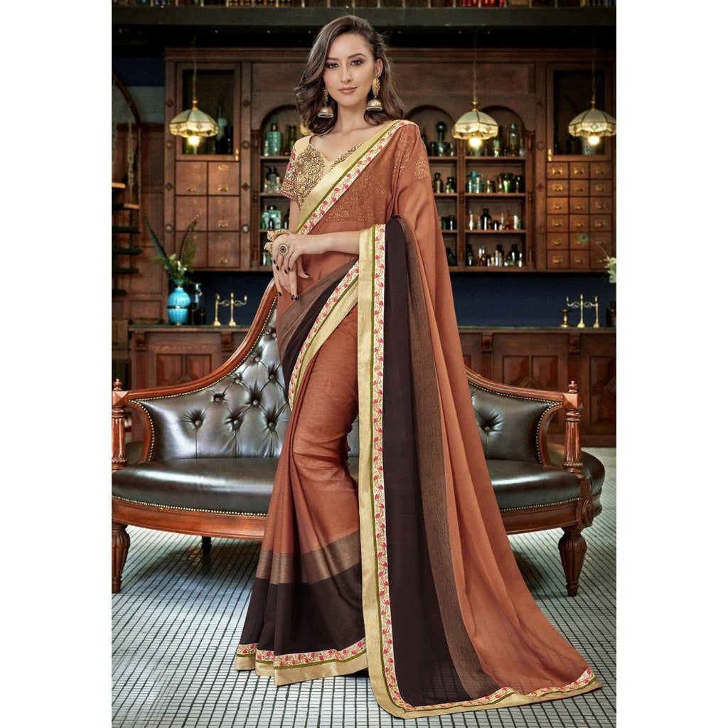 Border Worked Contemporary Sarees