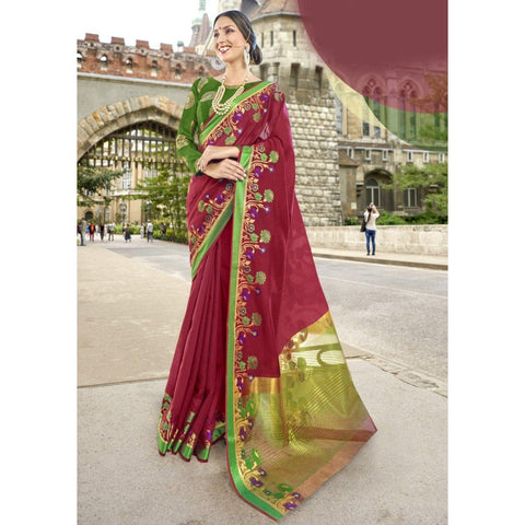 Maroon Traditional Sarees