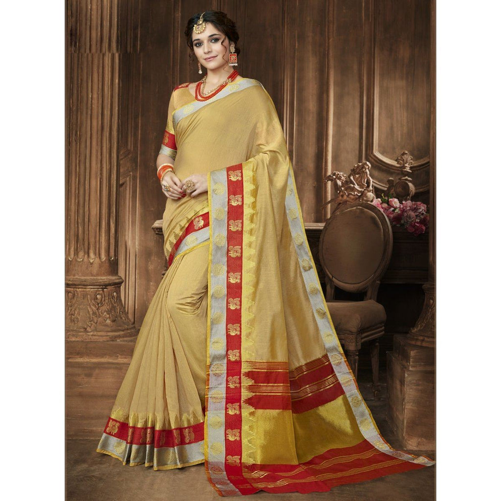 Blended Cotton Printed Sarees