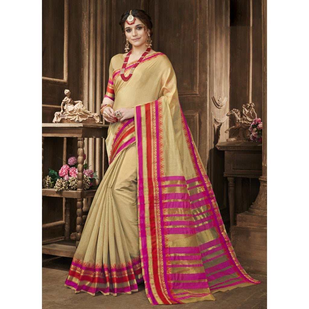 Blended Cotton Festival Wear  Sarees