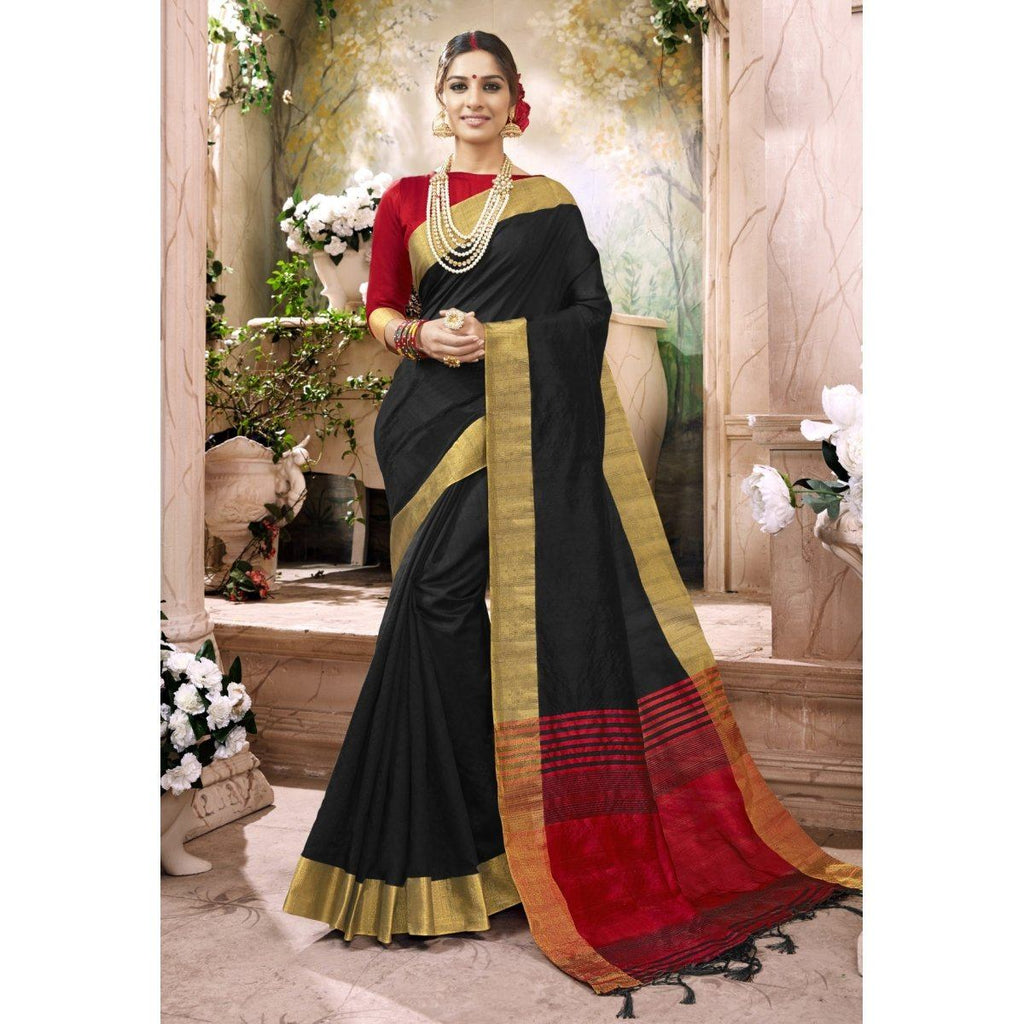 Black Silk Traditional Sarees