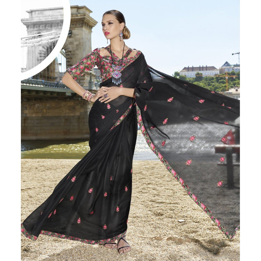 Embroidered Traditional Festival Wear Sarees