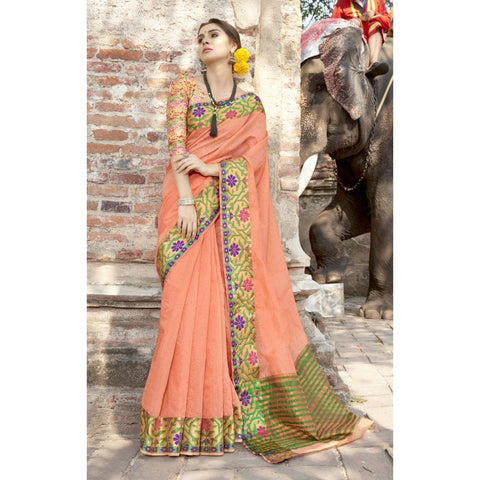 Orange Party Wear  Sarees