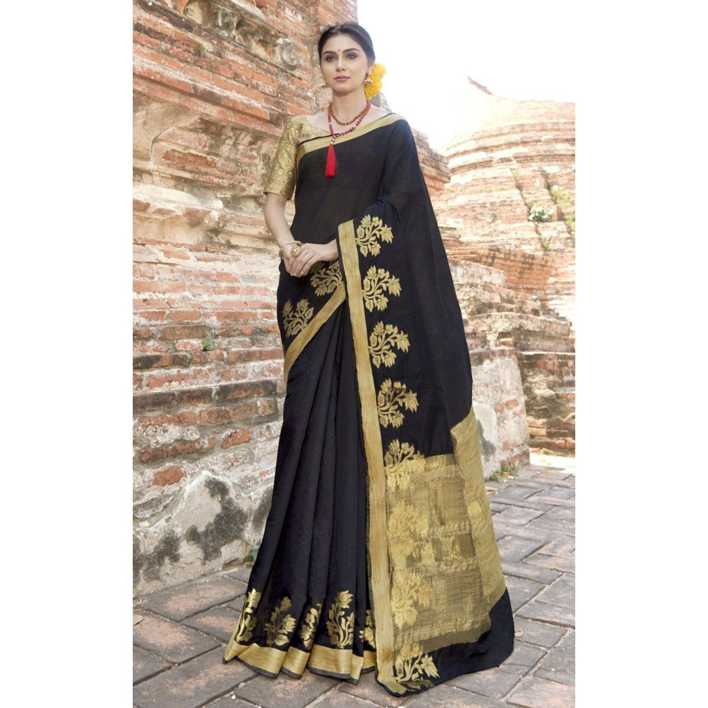 Black Officewear WovenSarees