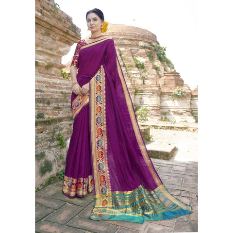 Purple Party Wear  Sarees