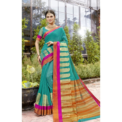 Banarasi Silk Green Traditional Sarees
