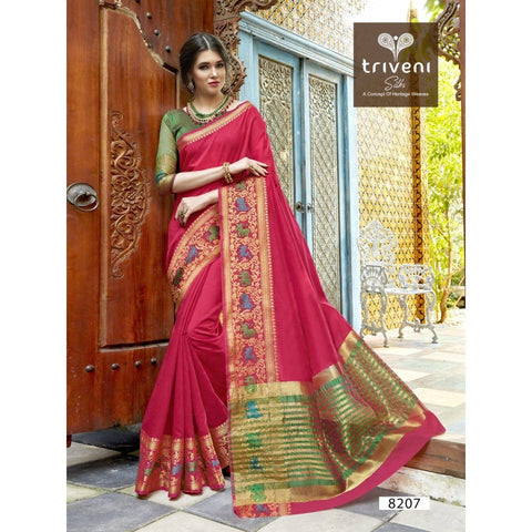 Pink Festival Wear Traditional Sarees