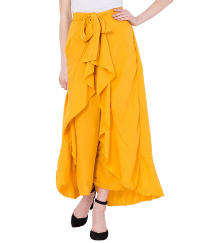 Yellow Flared Skirt for Women