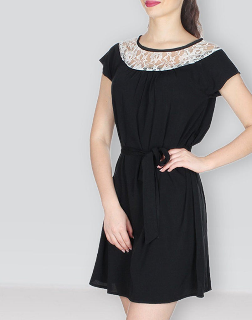 Black Solid Sizzling Dress