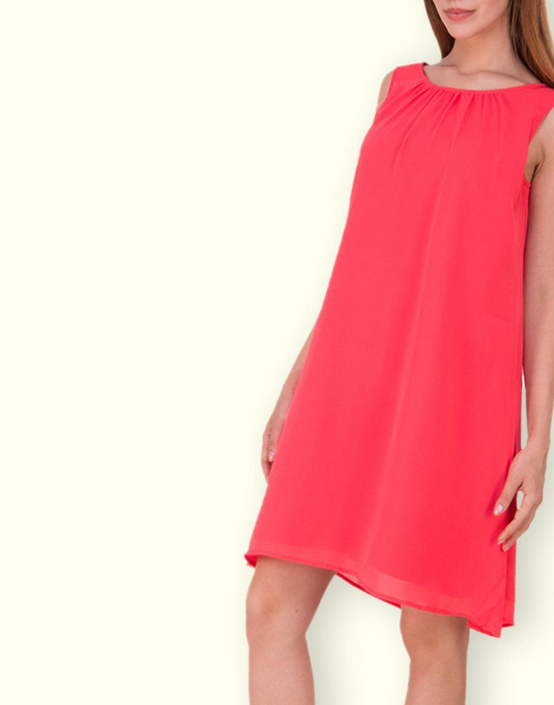 Fab Coral Solid Dress