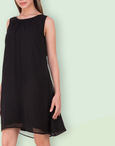 Black Straight Plain Dress